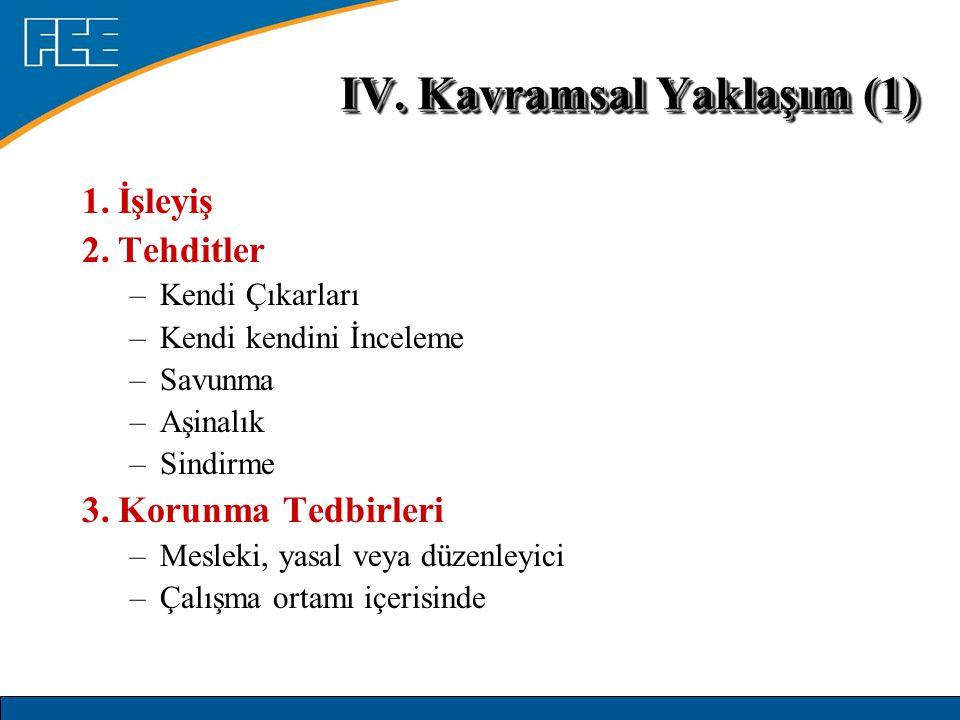 IV. Kavramsal Yaklaşım (1)