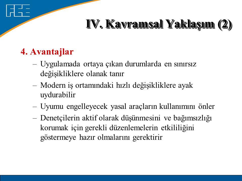 IV. Kavramsal Yaklaşım (2)