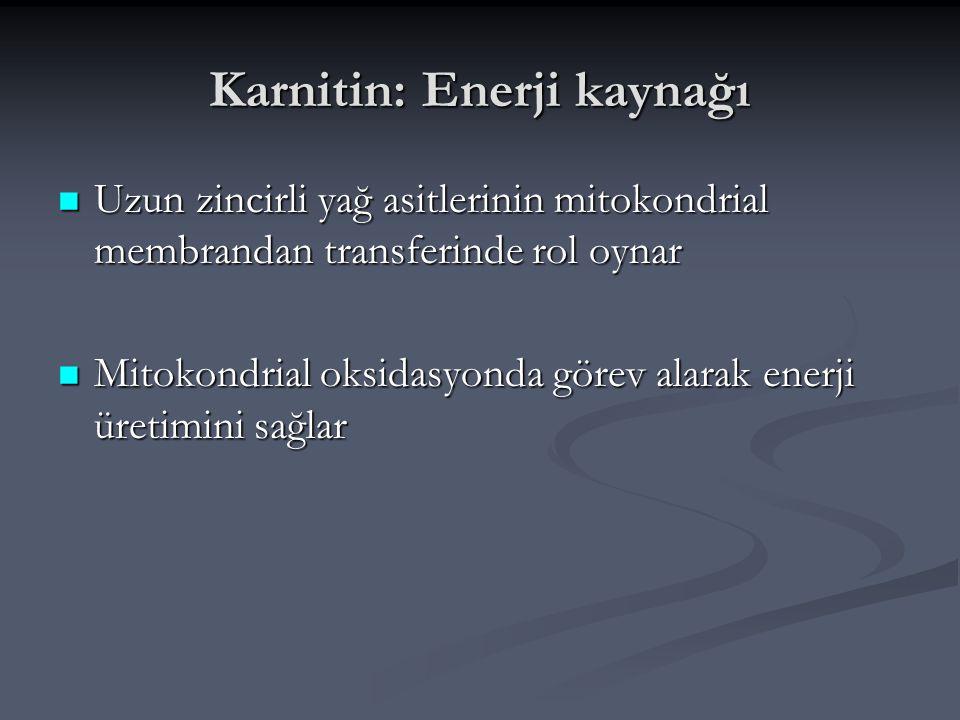 Karnitin: Enerji kaynağı