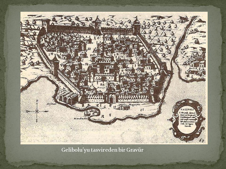 Gelibolu'yu tasvir eden bir Gravür