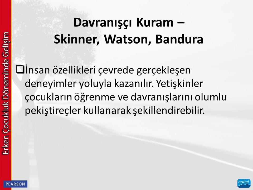 Davranışçı Kuram – Skinner, Watson, Bandura