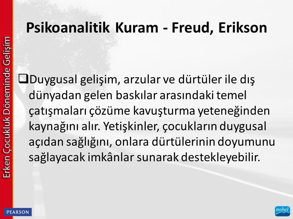 Psikoanalitik Kuram - Freud, Erikson