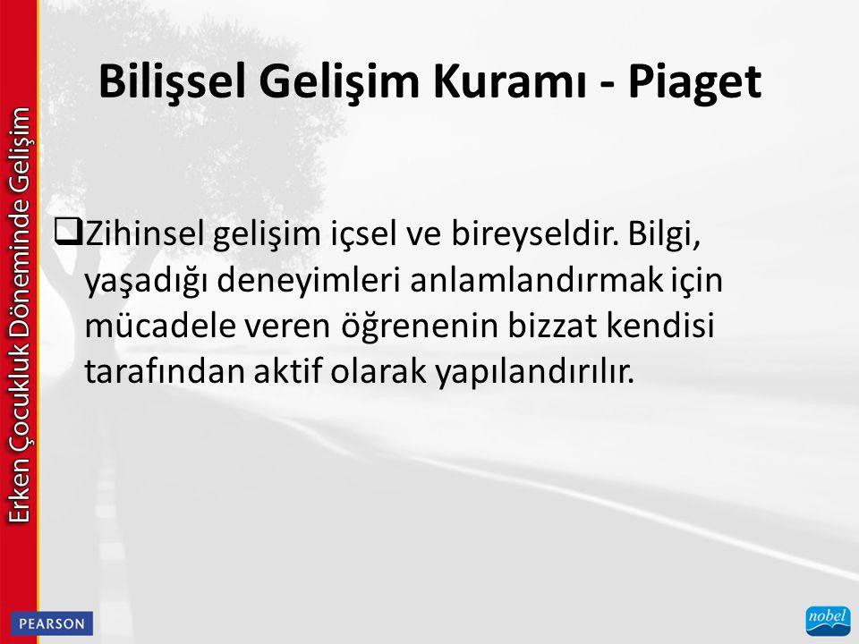 Bilişsel Gelişim Kuramı - Piaget