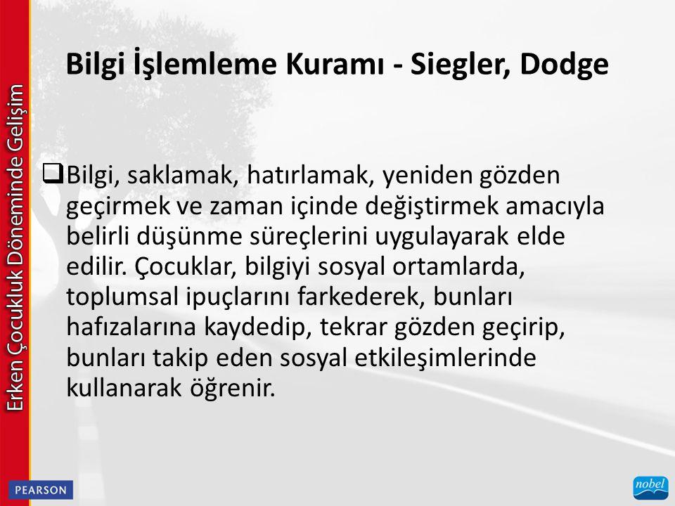 Bilgi İşlemleme Kuramı - Siegler, Dodge