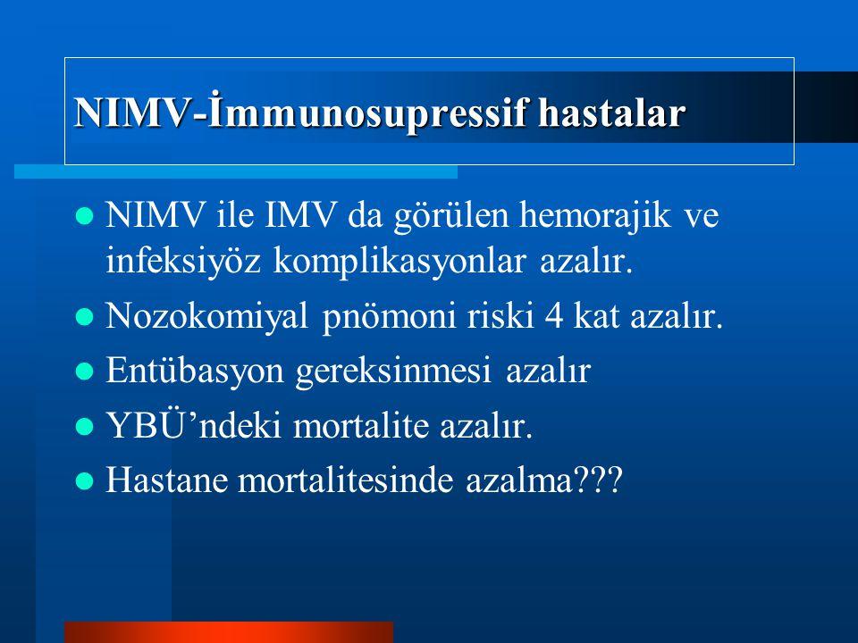 NIMV-İmmunosupressif hastalar