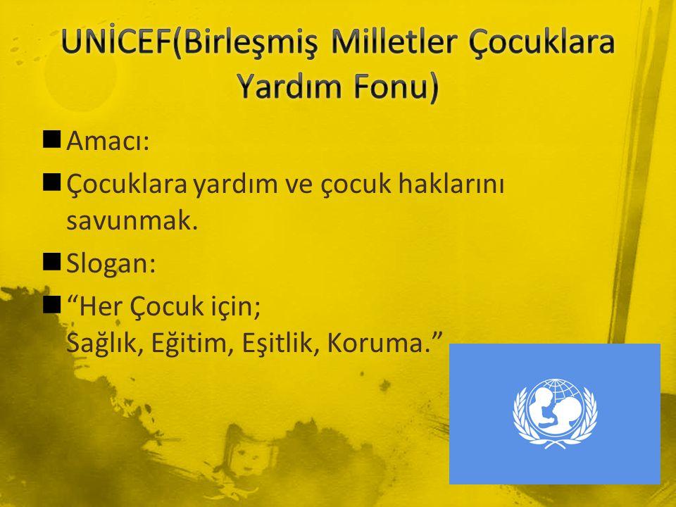 UNİCEF(Birleşmiş Milletler Çocuklara Yardım Fonu)