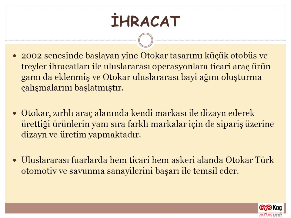 İHRACAT