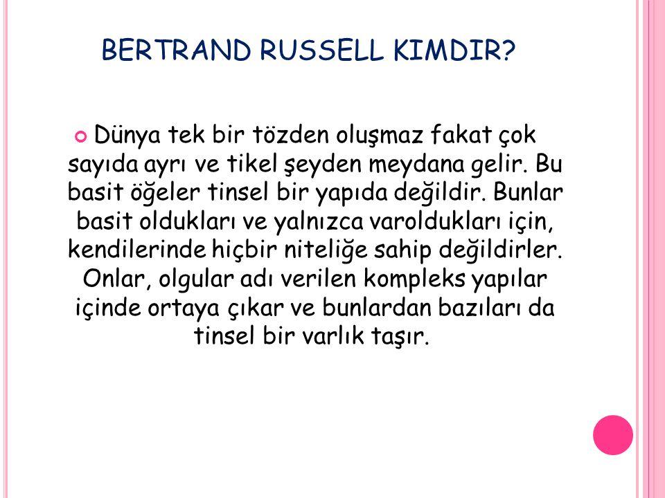BERTRAND RUSSELL kimdir
