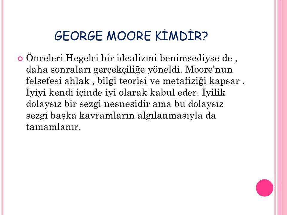 GEORGE MOORE KİMDİR