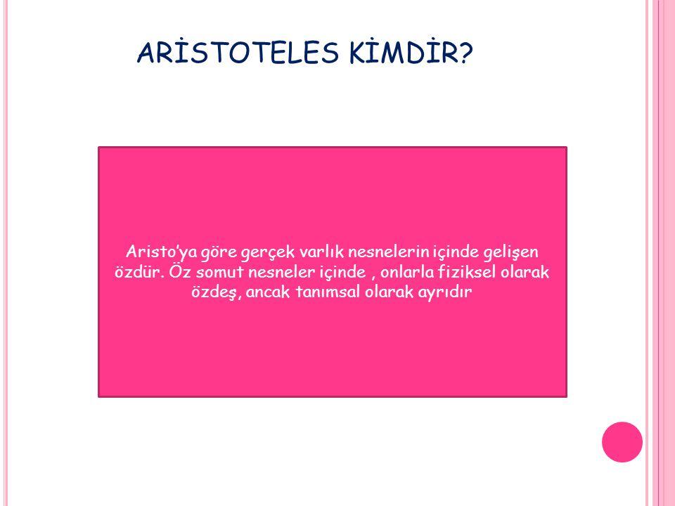 ARİSTOTELES KİMDİR