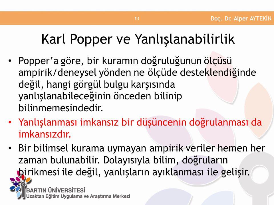 Karl Popper ve Yanlışlanabilirlik