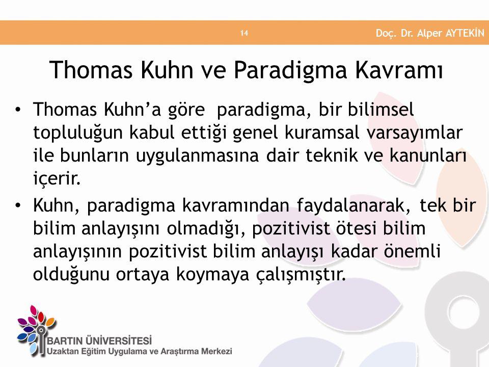 Thomas Kuhn ve Paradigma Kavramı