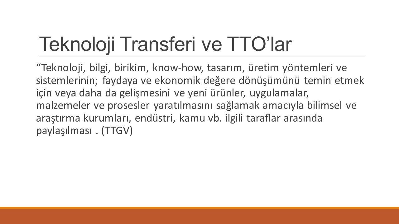Teknoloji Transferi ve TTO'lar