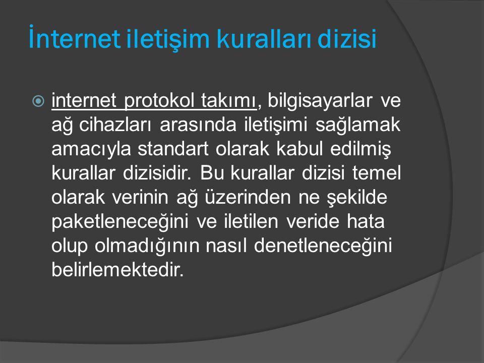 İnternet iletişim kuralları dizisi