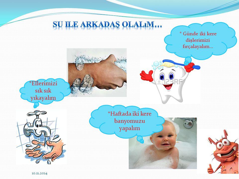 Su ile arkadaş olalım… *Ellerimizi sık sık yıkayalım