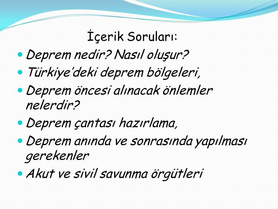 Deprem nedir Nasıl oluşur Türkiye'deki deprem bölgeleri,
