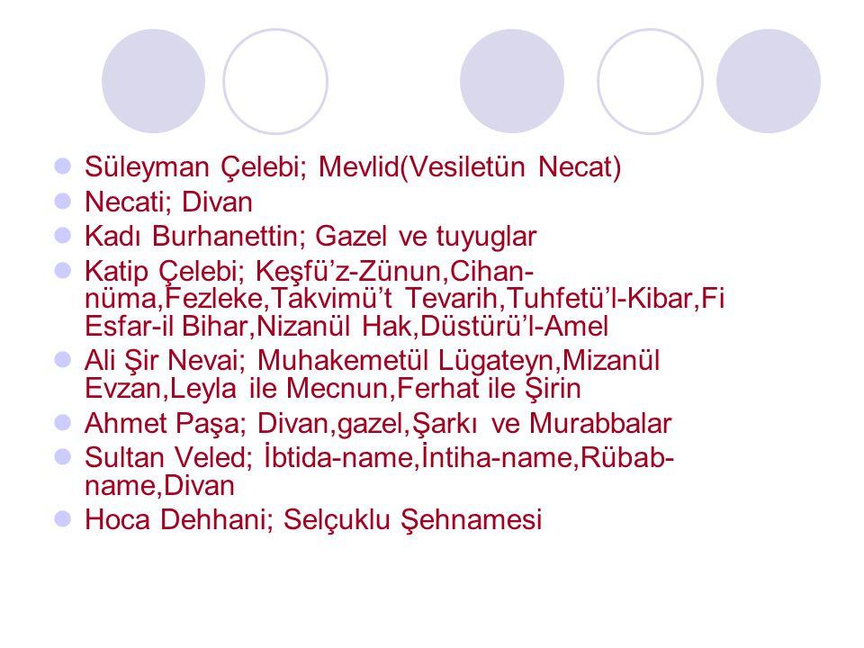 Süleyman Çelebi; Mevlid(Vesiletün Necat)