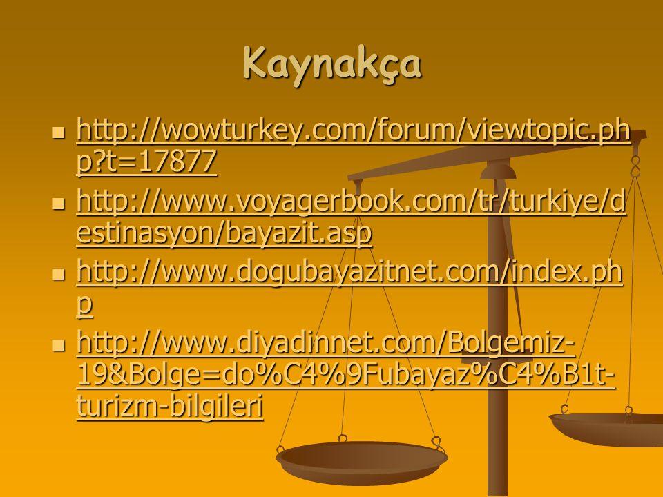Kaynakça http://wowturkey.com/forum/viewtopic.php t=17877