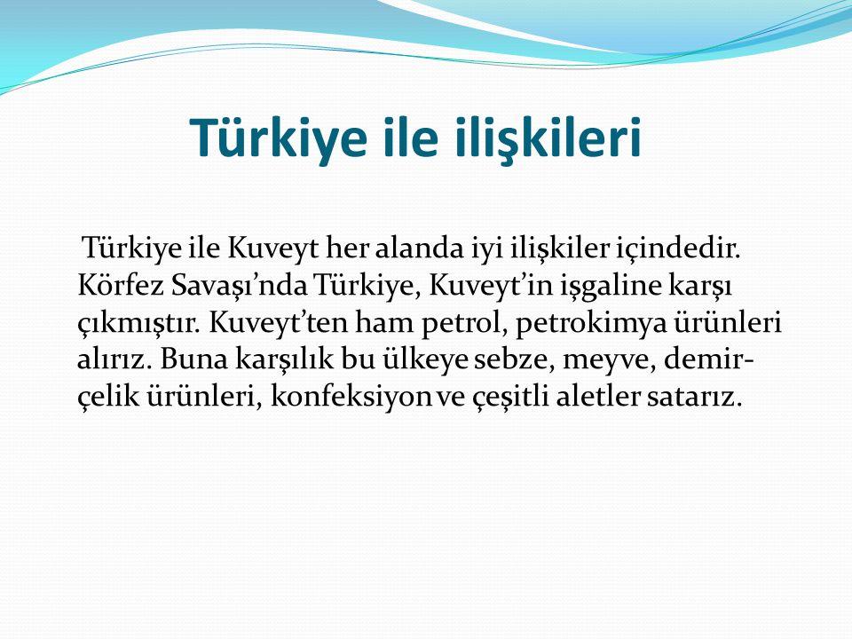 Türkiye ile ilişkileri