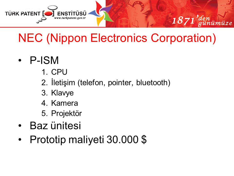 NEC (Nippon Electronics Corporation)