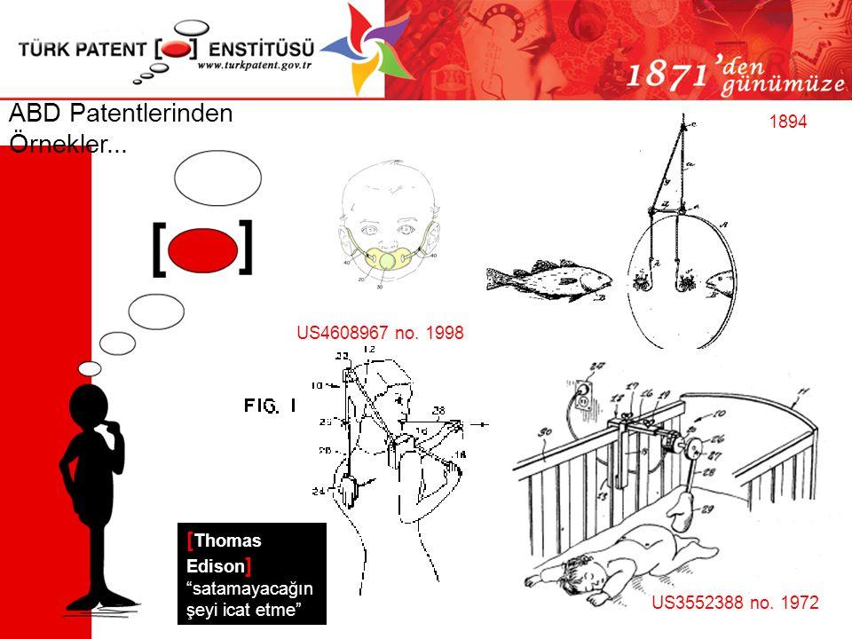 ABD Patentlerinden Örnekler...