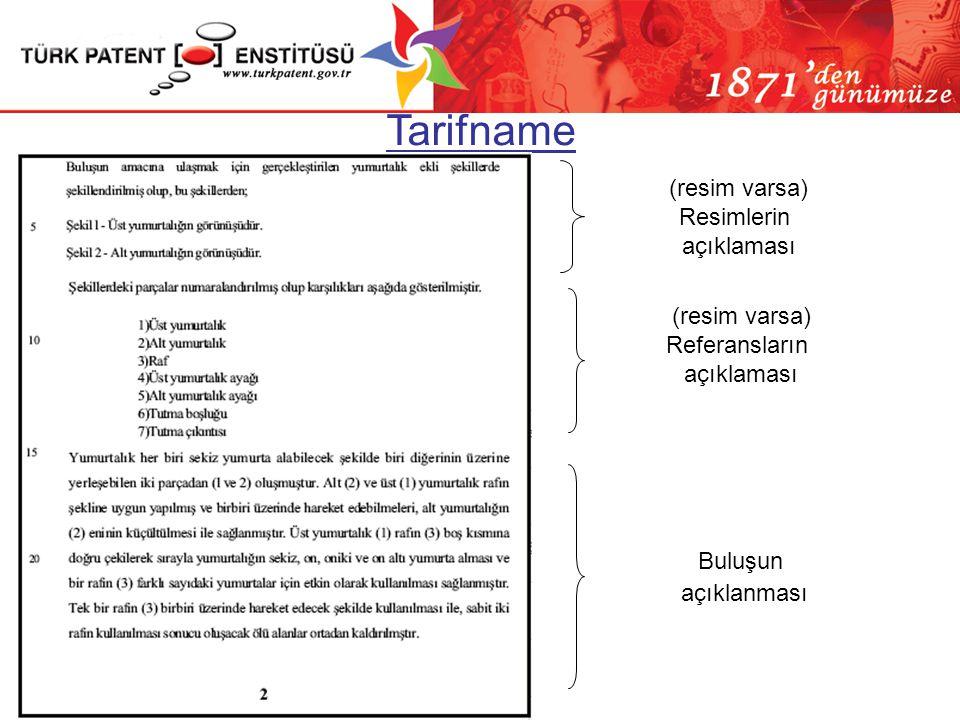 Tarifname (resim varsa) Resimlerin açıklaması (resim varsa)