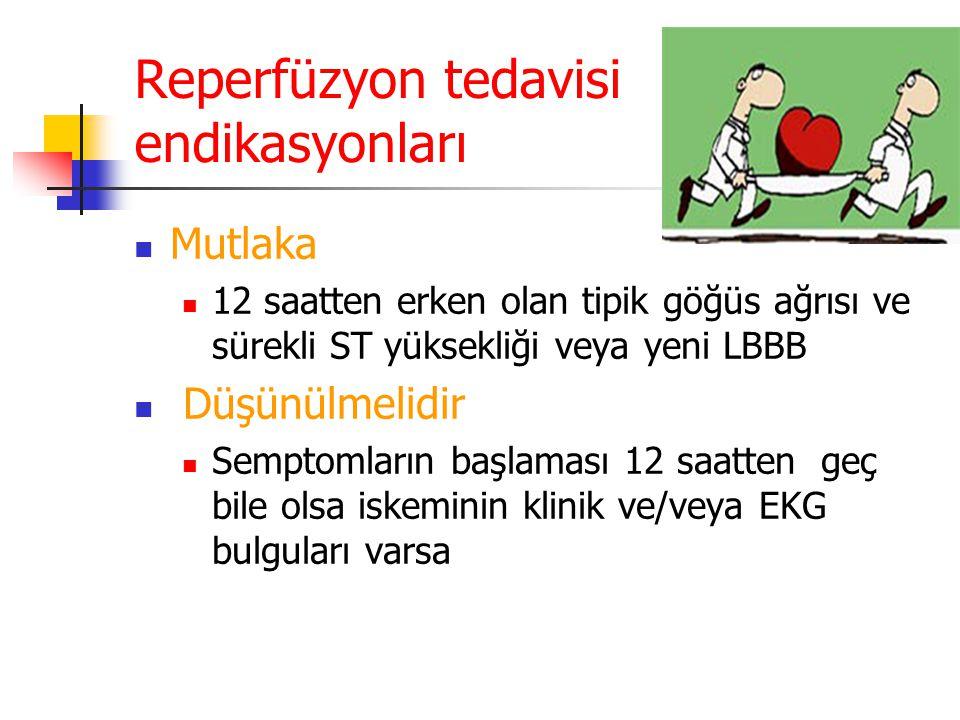 Reperfüzyon tedavisi endikasyonları