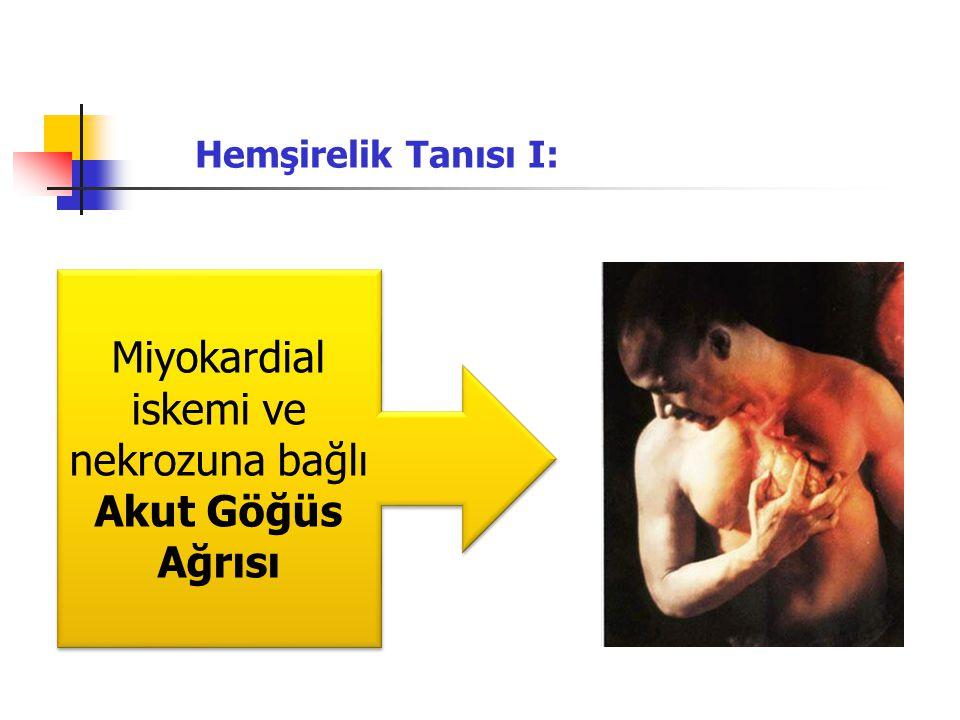 Miyokardial iskemi ve nekrozuna bağlı Akut Göğüs Ağrısı