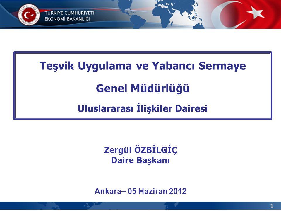 Teşvik Uygulama ve Yabancı Sermaye Uluslararası İlişkiler Dairesi