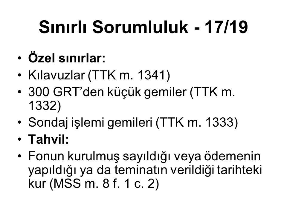 Sınırlı Sorumluluk - 17/19 Özel sınırlar: Kılavuzlar (TTK m. 1341)