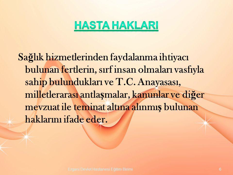 HASTA HAKLARI