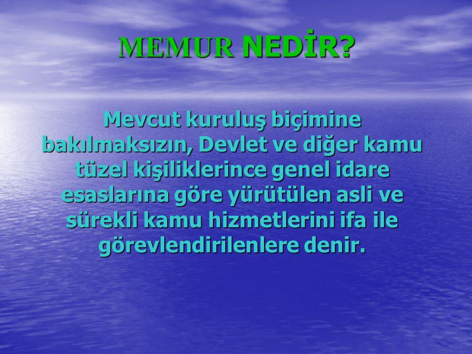 MEMUR NEDİR