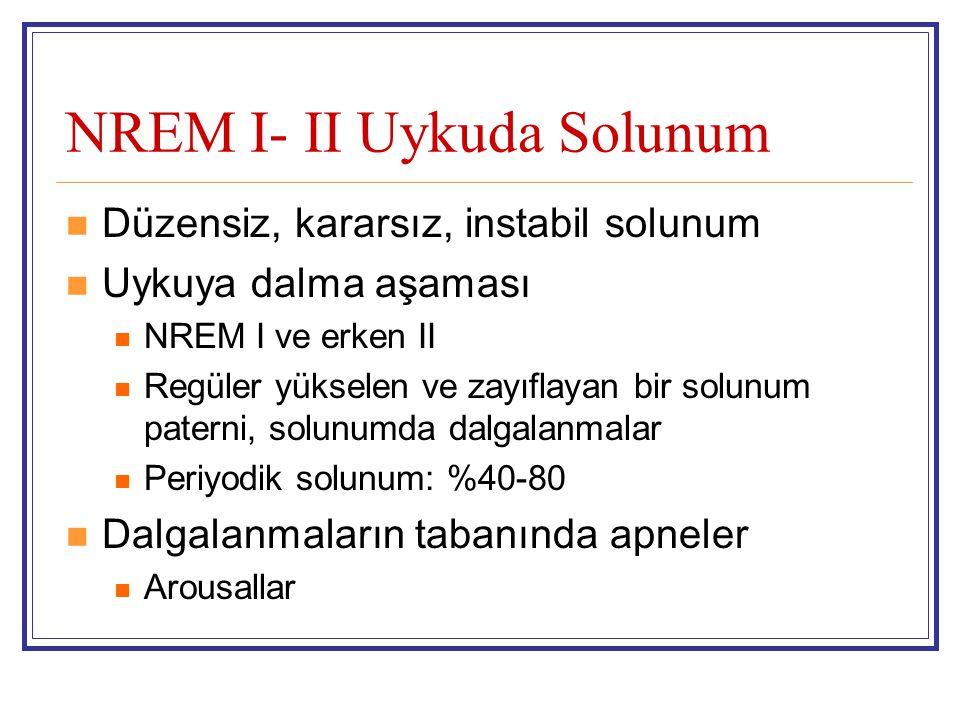 NREM I- II Uykuda Solunum