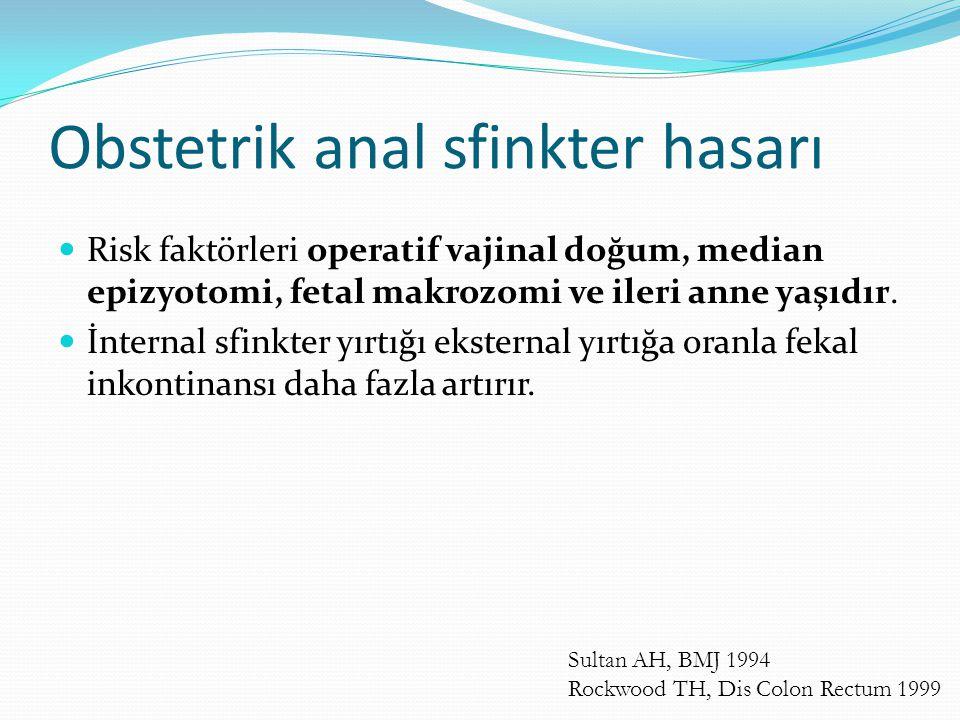Obstetrik anal sfinkter hasarı
