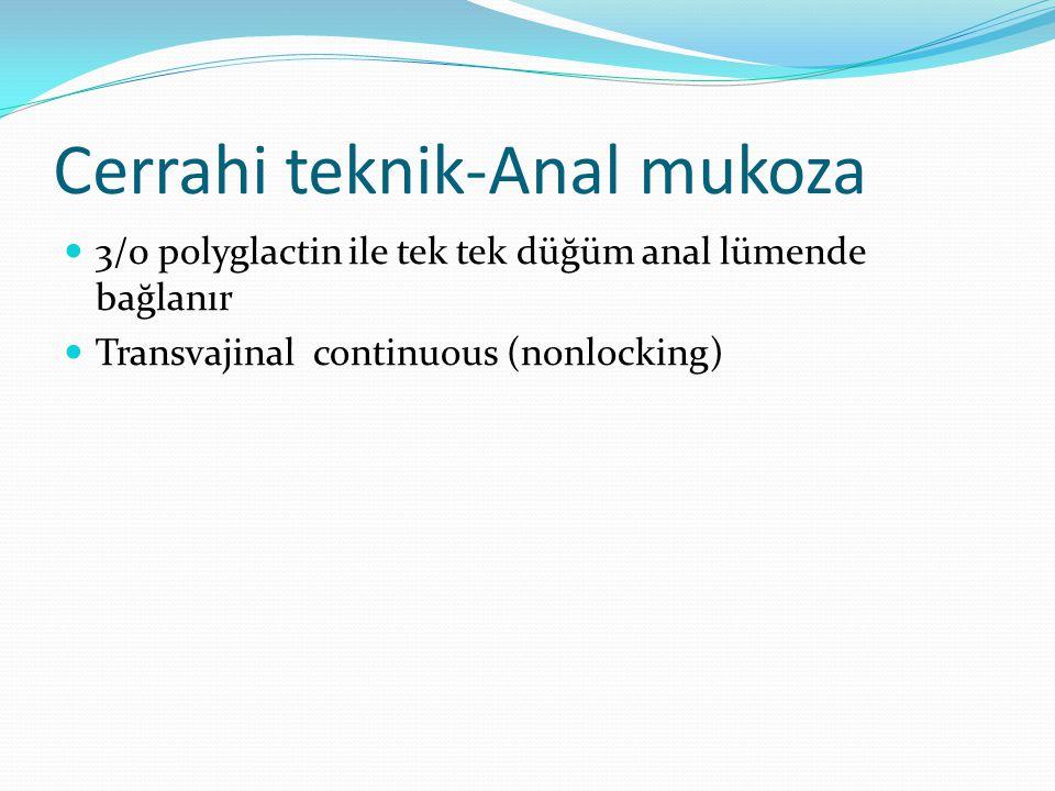 Cerrahi teknik-Anal mukoza