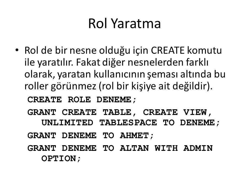 Rol Yaratma