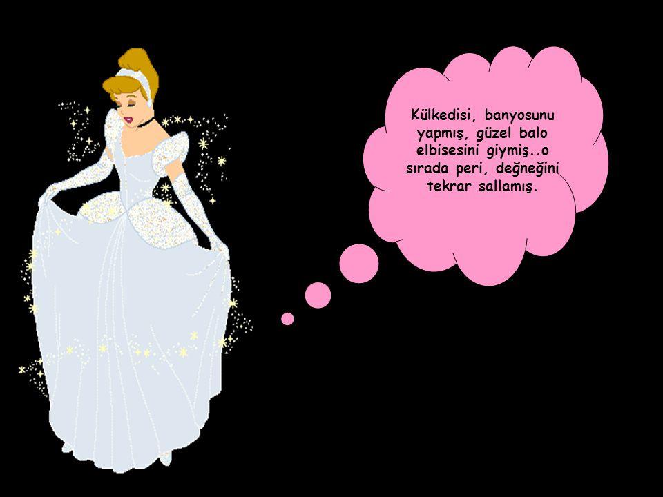 Külkedisi, banyosunu yapmış, güzel balo elbisesini giymiş