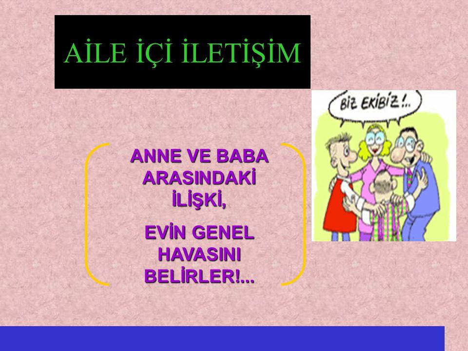 ANNE VE BABA ARASINDAKİ İLİŞKİ, EVİN GENEL HAVASINI BELİRLER!...