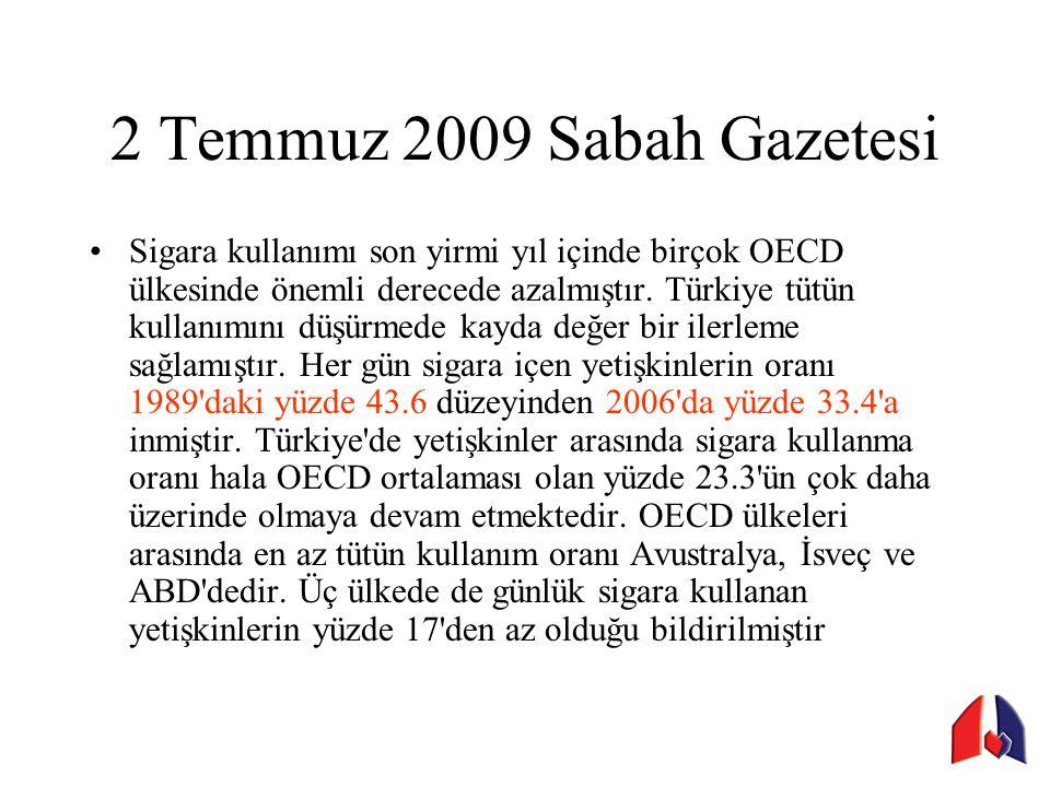 2 Temmuz 2009 Sabah Gazetesi