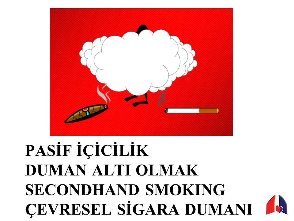 PASİF İÇİCİLİK DUMAN ALTI OLMAK SECONDHAND SMOKING ÇEVRESEL SİGARA DUMANI
