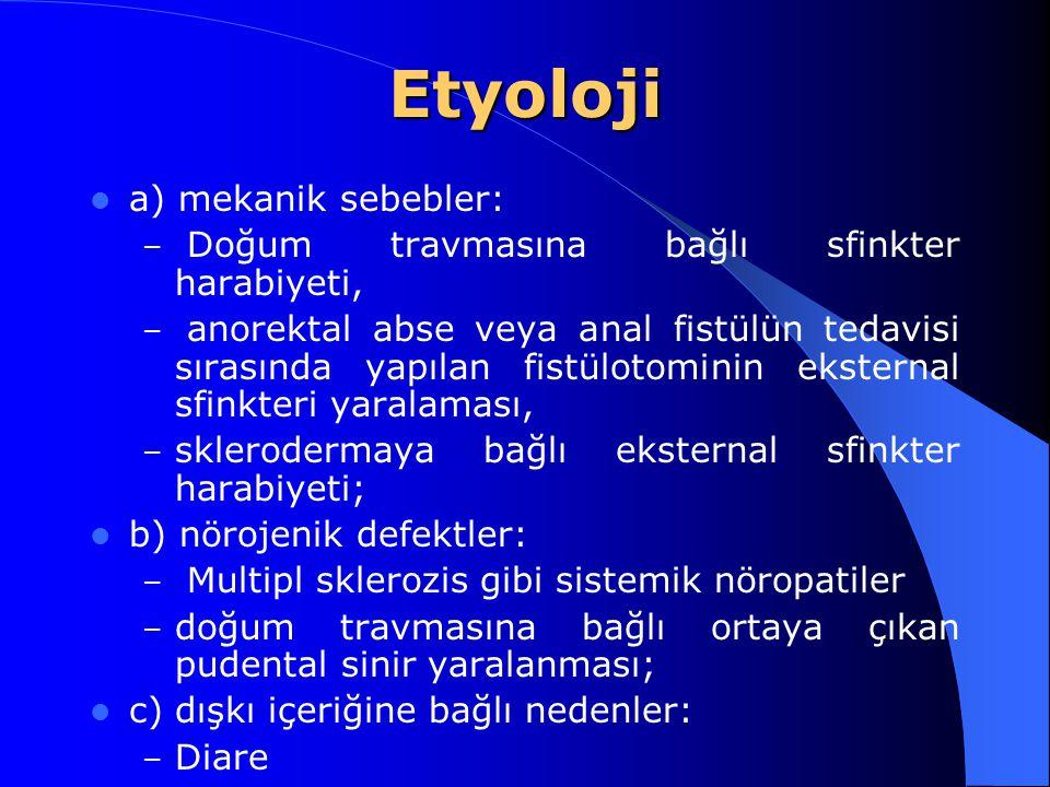 Etyoloji a) mekanik sebebler:
