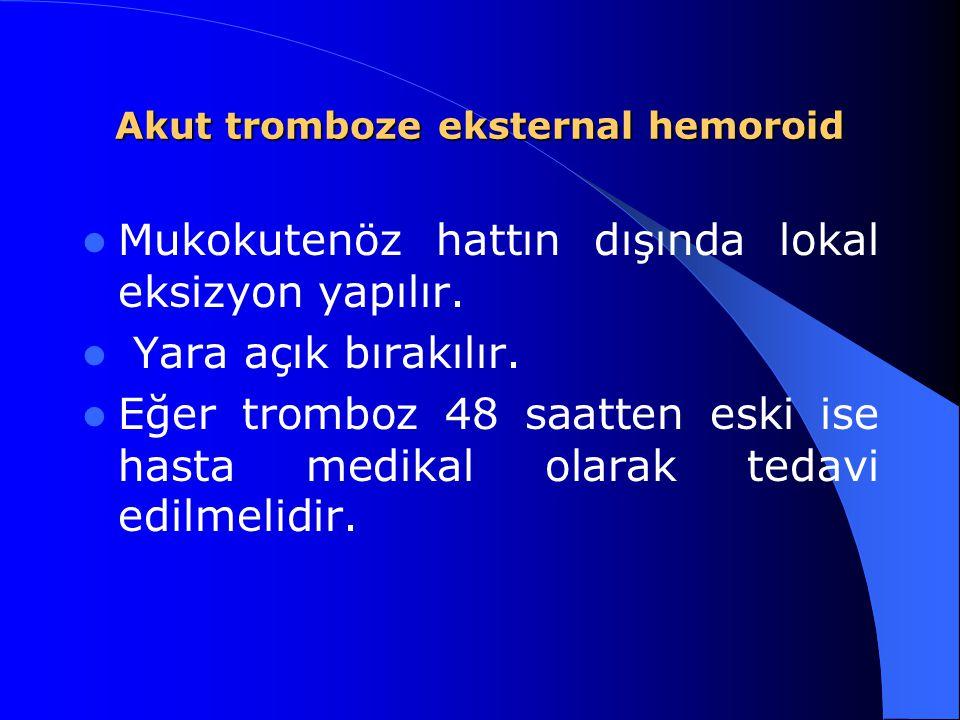 Akut tromboze eksternal hemoroid