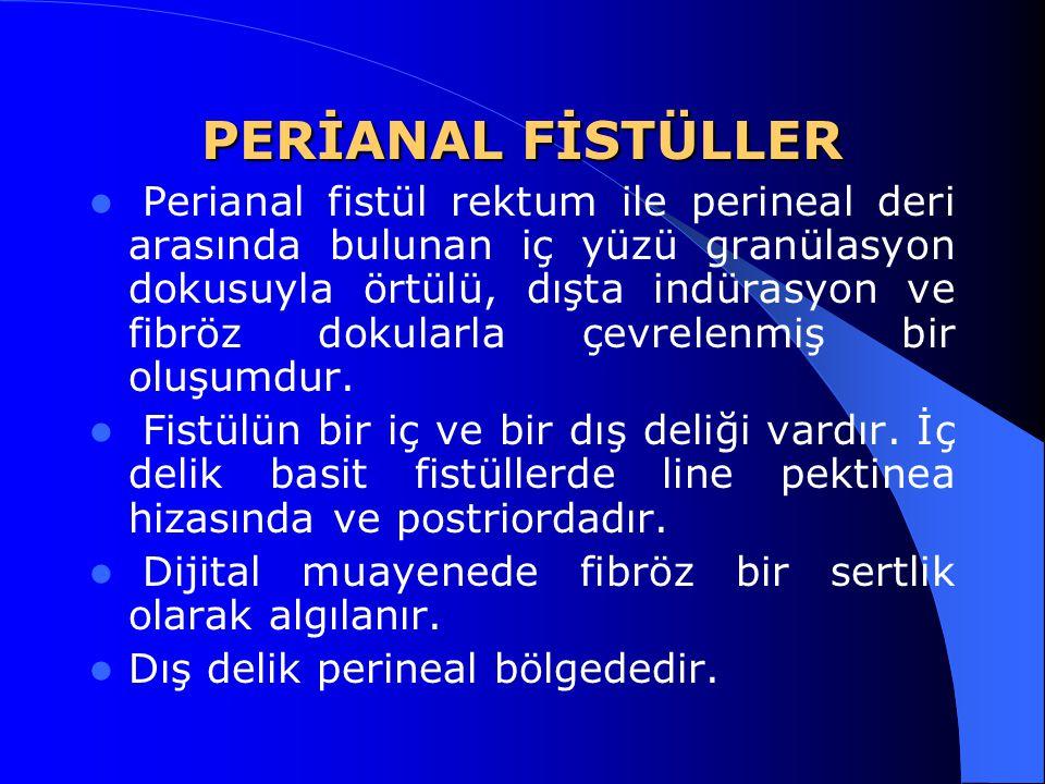 PERİANAL FİSTÜLLER