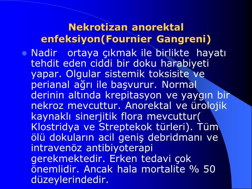 Nekrotizan anorektal enfeksiyon(Fournier Gangreni)