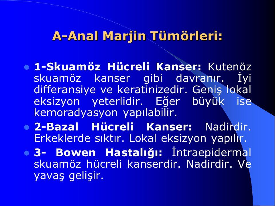 A-Anal Marjin Tümörleri: