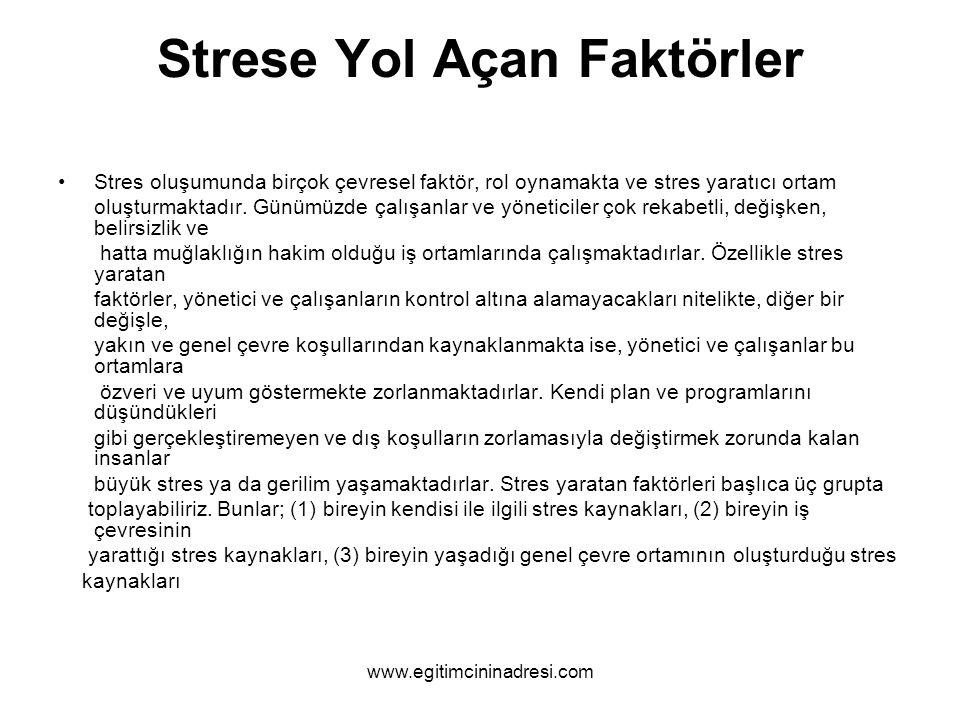 Strese Yol Açan Faktörler