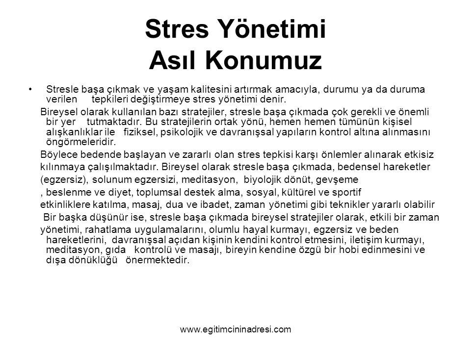 Stres Yönetimi Asıl Konumuz