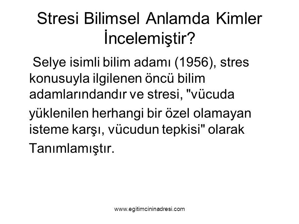 Stresi Bilimsel Anlamda Kimler İncelemiştir