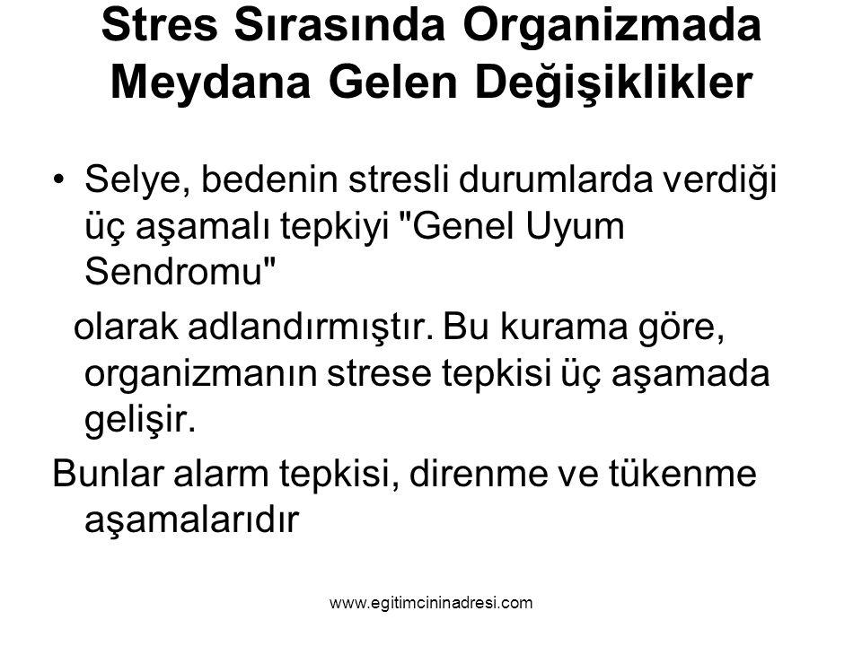 Stres Sırasında Organizmada Meydana Gelen Değişiklikler