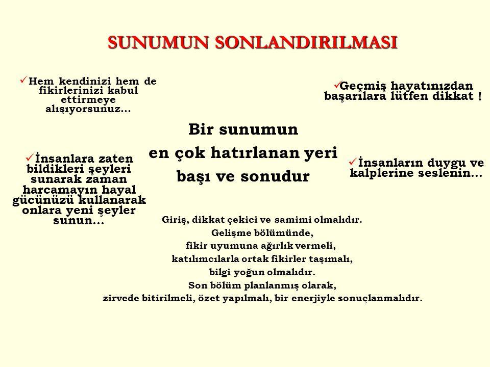 SUNUMUN SONLANDIRILMASI